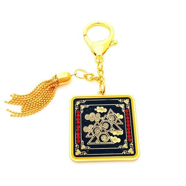 Prosperity Talisman with the Earth Element Keychain