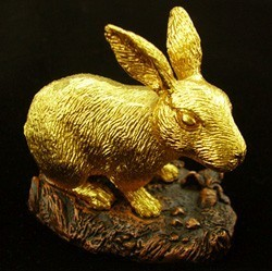 24K Gold Plated Rabbit Figurine