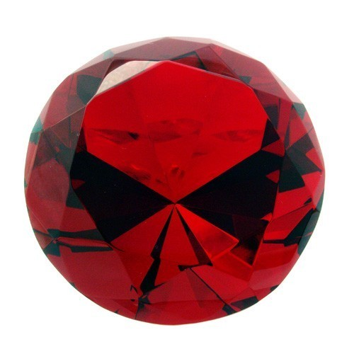 Red Wish Fulfilling Crystal for Fame and Recognition - 80mm
