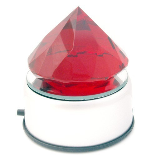 Red Crystal with Rotating Turntable