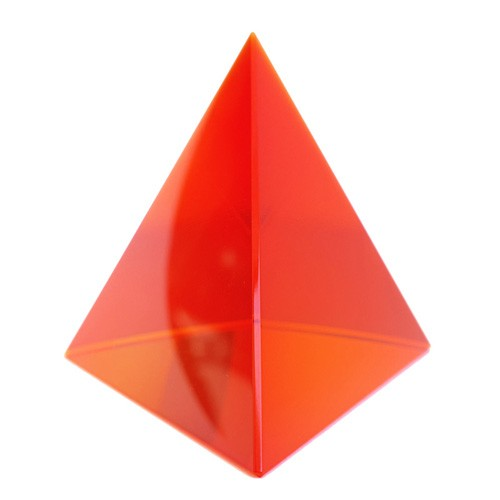 Red Triangular Crystal