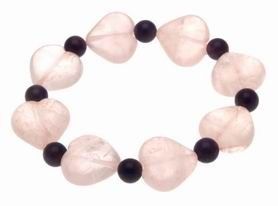 Rose Quartz Amethyst Crystal Bracelet for New Love