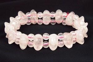 Rose Quartz Crystal Bracelet for Love Luck