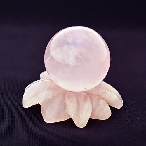 Mini Rose Quartz Sphere