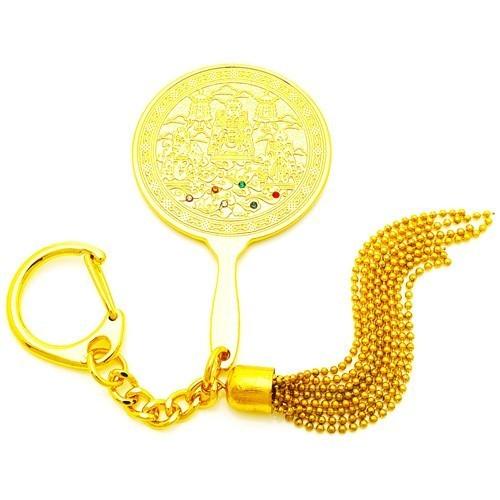 Royal Emblems Mirror Keychain