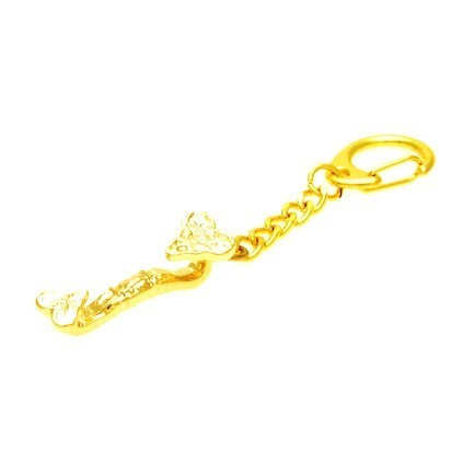 Gold Plated Ru Yi Keychain