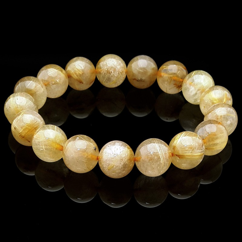 Natural Rutilated Quartz Bracelet - 12mm