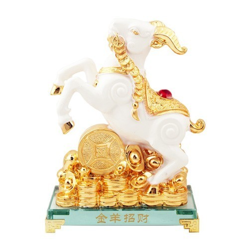 Wealth Goat Carrying Auspicious Lucky Coins