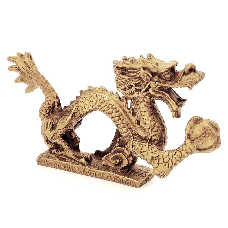 Bronze Dragon Grasping a Pearl