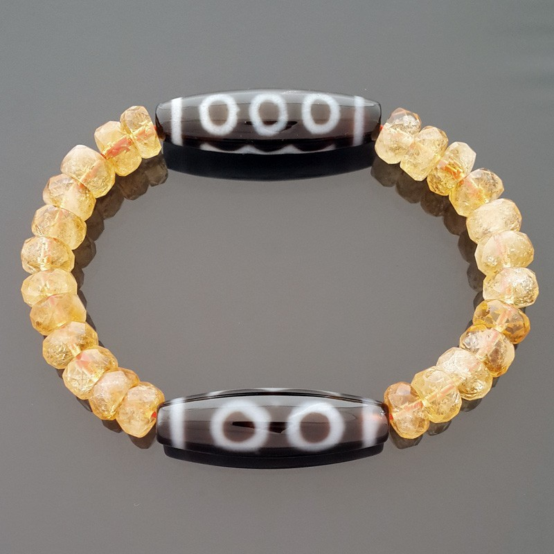 The Super Wealth Dzi Bead Bracelet