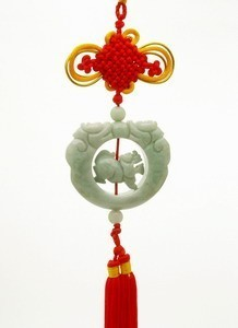 Jade Pi Yao with Twin Dragons Tassel for Wealth and Protection
