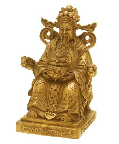 Bronze Chai Shen Yeh For Wealth and Prosperity( God of Wealth )