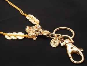 The Golden 3 Legged Toad with 8 coins keychain