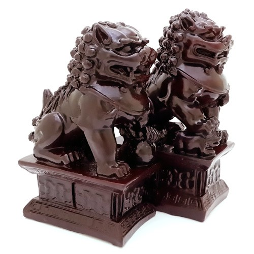 A Pair Of Temple Lions for Protection