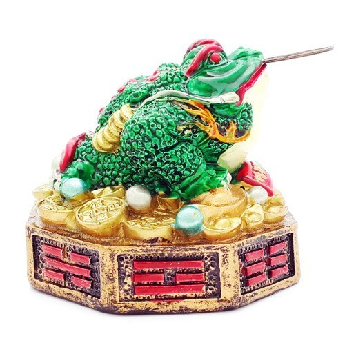 Three Legged Toad on Bed of Ingots, Coins and Bagua