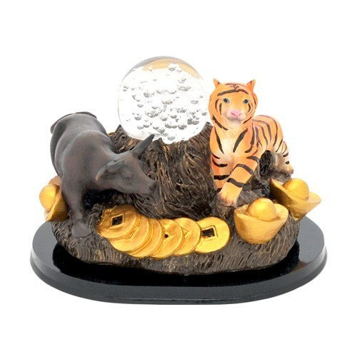 Ox and Tiger with Crystal Ball