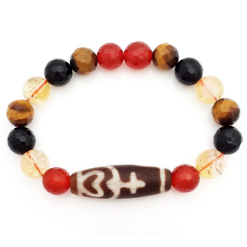 Authentic OLD Agate TREASURE VASE dZi Bead Amulet Bracelet
