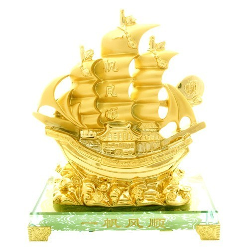 The Golden Wealth Ship for Prosperity Luck