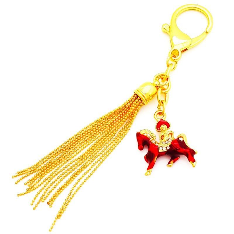Bejeweled Wind Horse Keychain