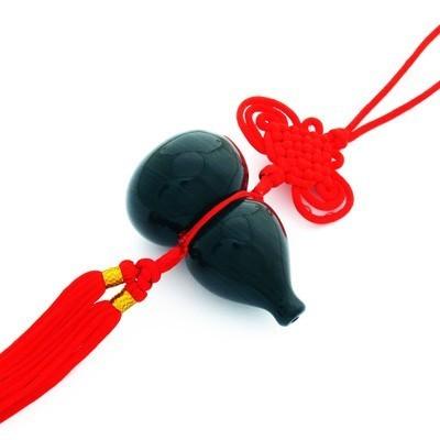 Black Obsidian Wu Lou Tassel - Large