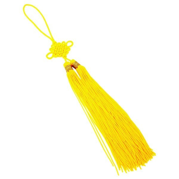 Mystic Lucky Knot Tassel - Yellow