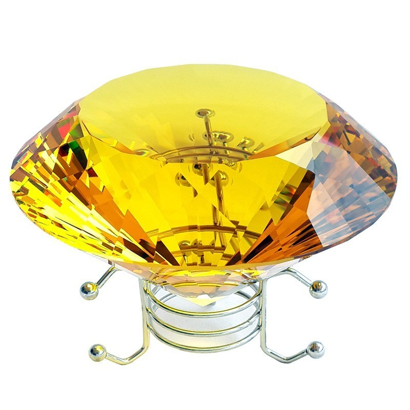 Yellow Wish Fulfilling Crystal for Wealth and Money Luck - 120mm